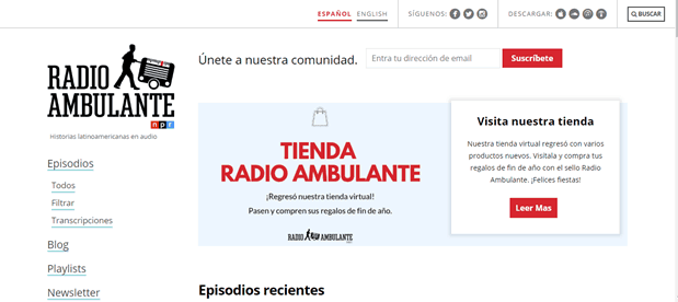 Spanish Podcasts - Radio Ambulante
