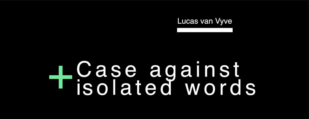 Langfest Speech Lukas Van Vyve
