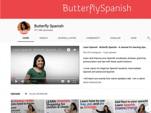 Butterfly Spanish Youtube Channel