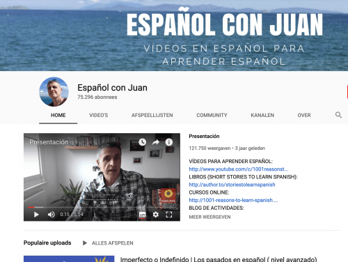Espanol con Juan Spanish YouTube Channel