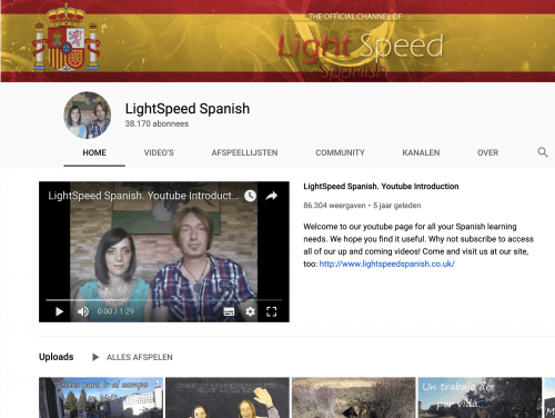 LightSpeed Spanish Spanish YouTube Channel