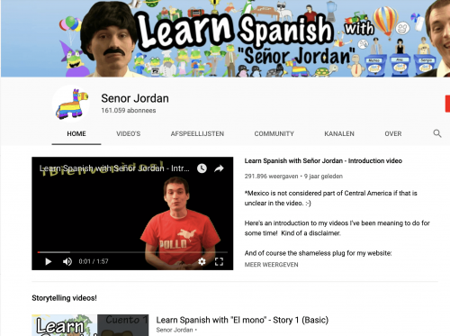 Senor Jordan Spanish YouTube Channel