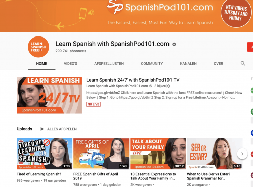 SpanishPod101 Spanish YouTube Channel
